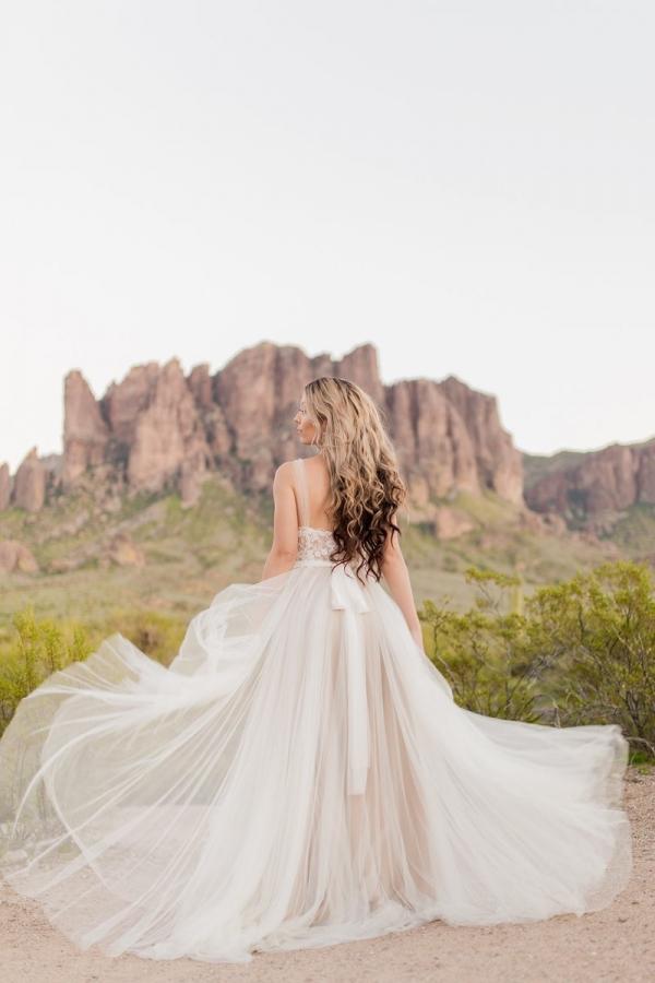 BHLDN Penelope gown in desert