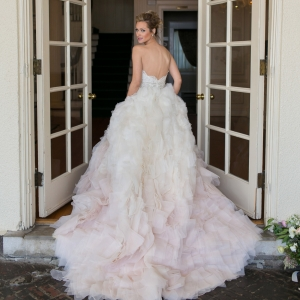 Tulle and organza ombre gown