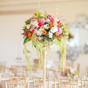 Elegant tall floral centerpiece