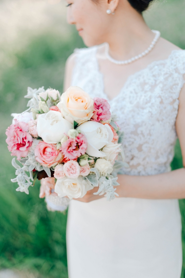 Soft palette wedding bouquet