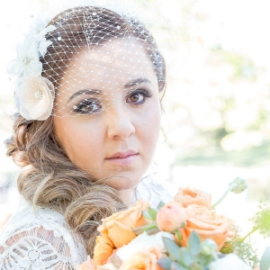 plus size bride in winery wedding