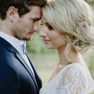 Romantic Photo Of Bride & Groom At Byron Bay Wedding