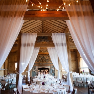 Draped reception space