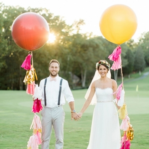 Wedding Balloons with Tassel Garlands