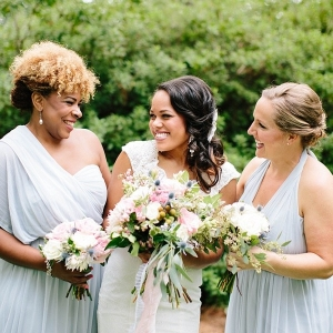 Mystic gray convertible bridesmaid dress