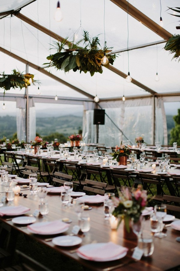 Clear Marquee Wedding Reception