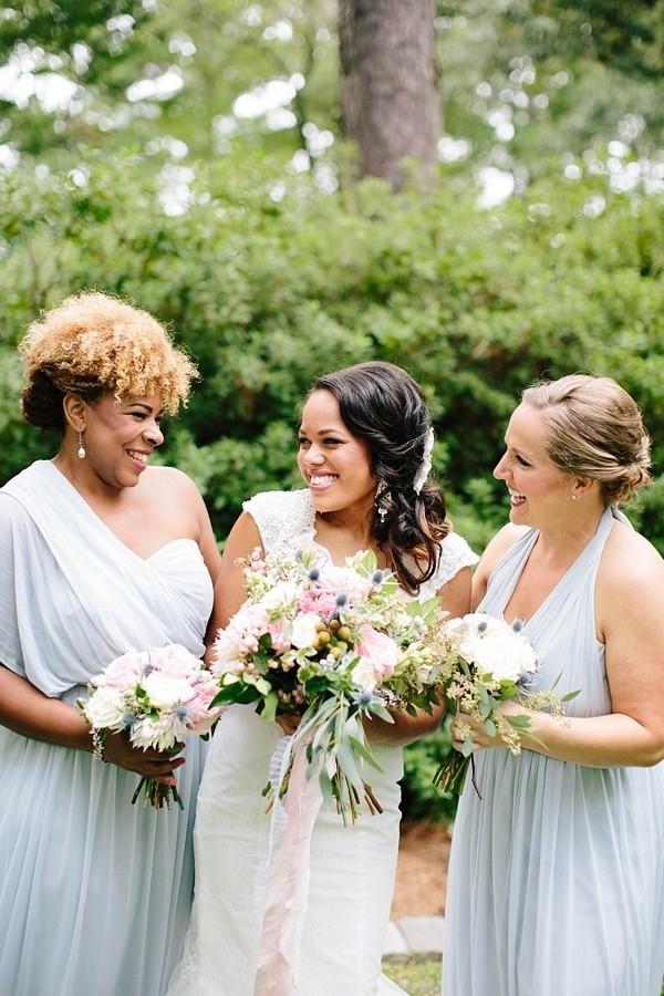Mystic gray convertible bridesmaid dress