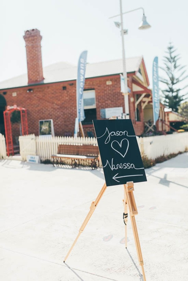 Chalkboard Wedding Sign To Welcome Guests To A Wedding