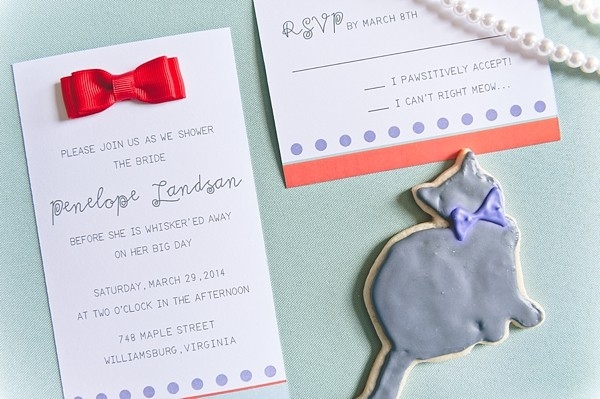 Modern and playful Pantone inspired bridal shower invitation