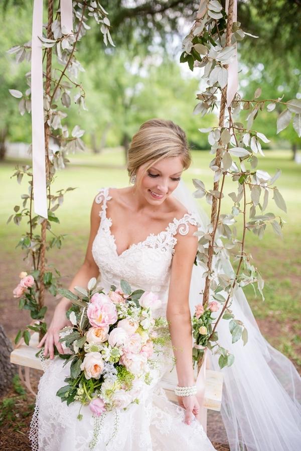 blush spring garden wedding on Glamour & Grace