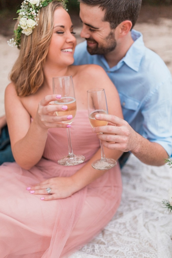 Dreamy lake engagement session