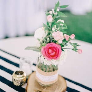 Rustic centerpiece on Glamour & Grace
