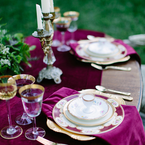Magenta tablescape