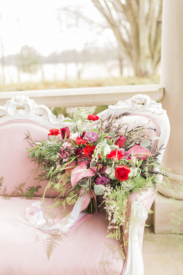 Lush pink and red bouquet