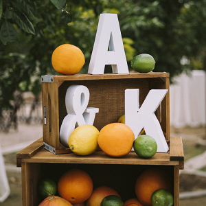 Citrus wedding decor