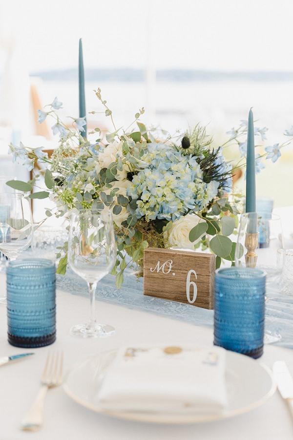Coastal wedding tablescape