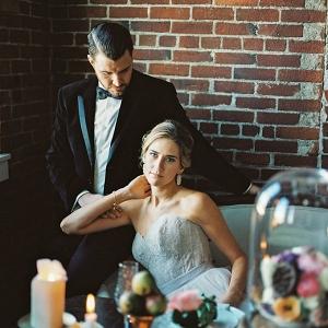 romantic loft wedding inspiration by Alexandra Elise Photography on Glamour & Grace
