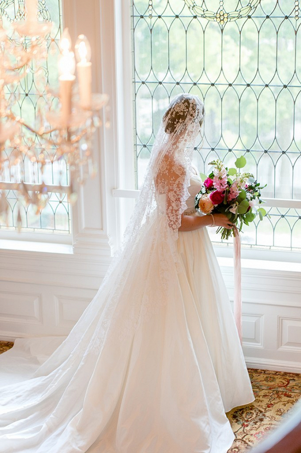Heirloom lace mantilla veil from Nana