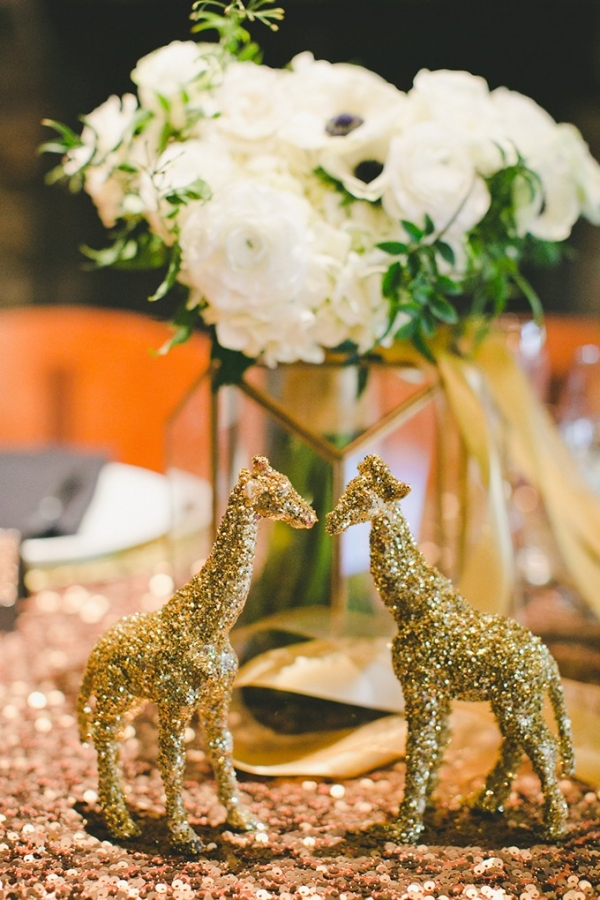 black and gold glitter wedding by One Love Photography on Glamour & Grace