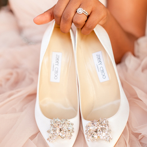 Jewel Jimmy Choo bridal heels