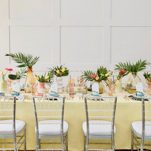 Tropical retro wedding ideas