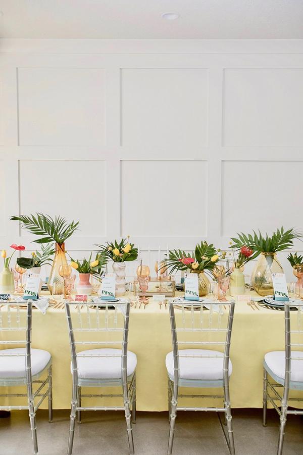 Tropical retro wedding ideas