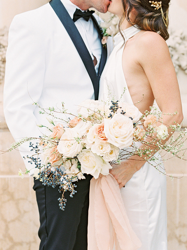 Modern romantic elopement portrait