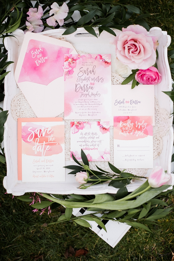 cherry blossom wedding inspiration by Meghan Rose Photography on Glamour & Grace