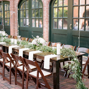 Greenery garland wedding centerpiece