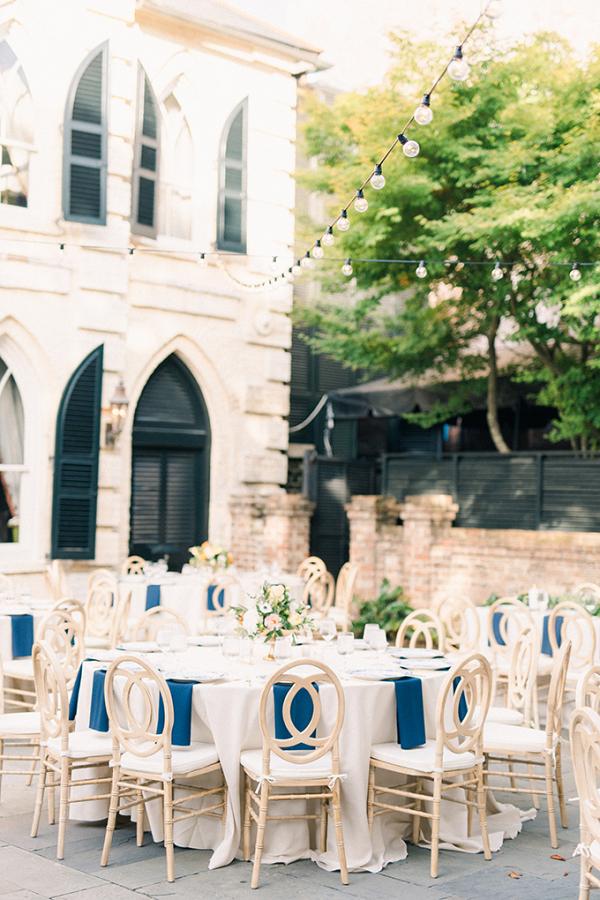 Outdoor Charleston wedding reception