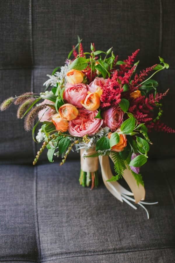 colorful modern handmade wedding by Jerry Yoon Photographers on Glamour & Grace