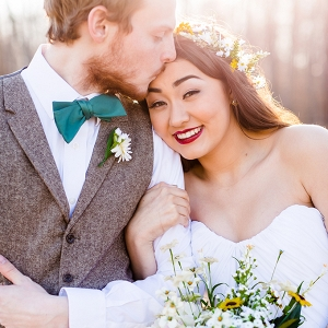 DIY gold and green spring wedding from Heather Chipps Photography on Glamour & Grace