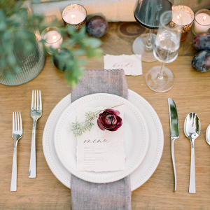 Simple fall place setting