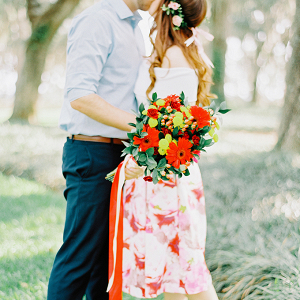 Floral filled engagement session