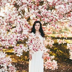 florals springtime bridal portraits by L.A. Birdie Photography on Glamour & Grace