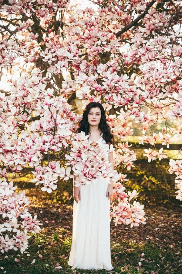 florals springtime bridal portraits by L.A. Birdie Photography on Glamour & Grace