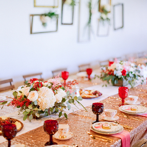 Pink and red bridal shower