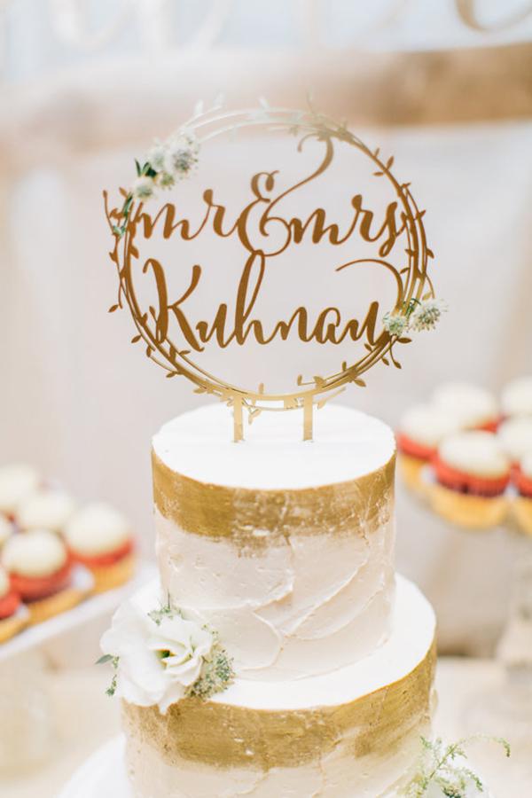 handmade cake topper from Glamour & Grace