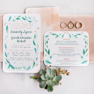 handmade peach wedding from Karyn Johnson Photography on Glamour & Grace