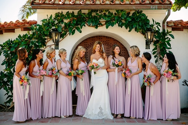 colorful beach wedding by Caroline Studios on Glamour & Grace