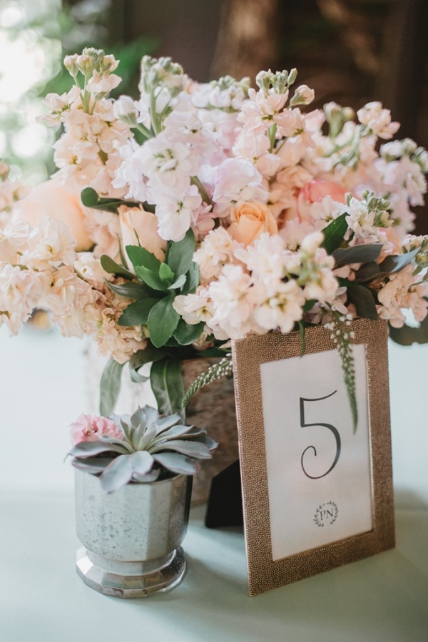 intimate garden wedding by L.A. Birdie Photography on Glamour & Grace