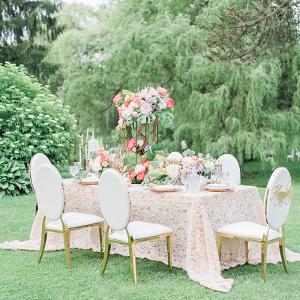 Glam spring wedding reception