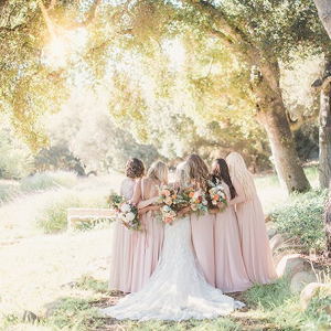 Ranch wedding with blush bridal party