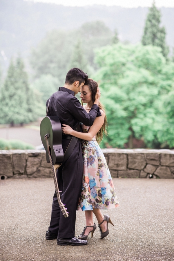 Johnny Cash inspired engagement from White Ivory Photography on Glamour & Grace