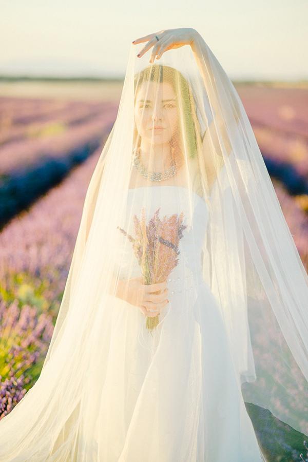 bride under veil on Glamour & Grace