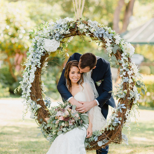 Wedding floral swing
