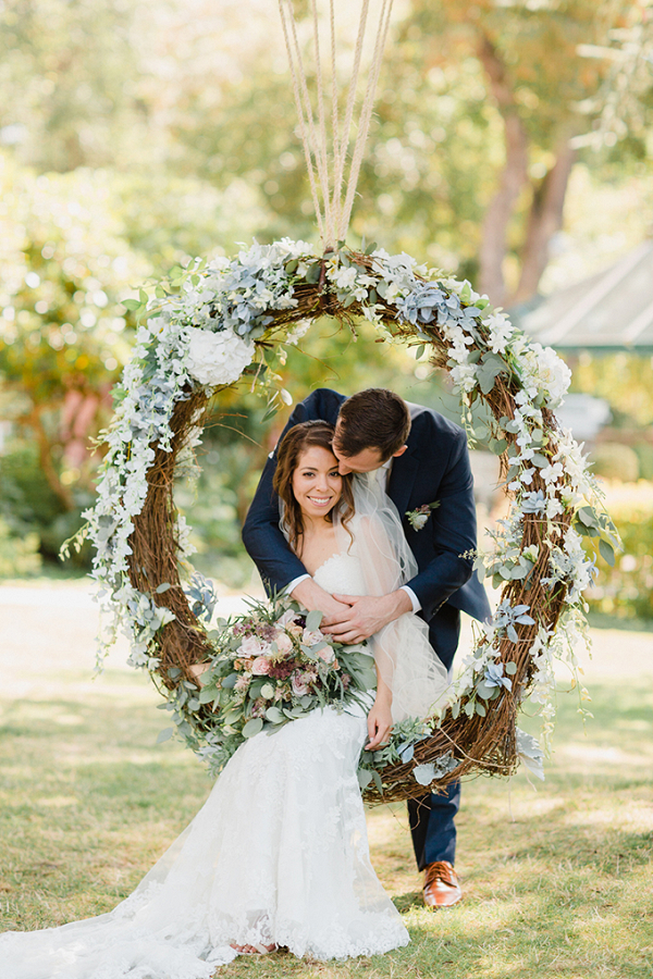 Wedding floral swing
