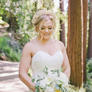 Heirloom wax flower crown