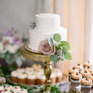 Small vintage wedding cake