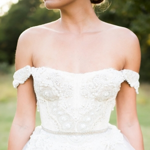 romantic bridal portraits by Andrea Elizabeth Photography on Glamour & Grace
